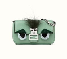 Obsession of the week: Fendi Micro Baguette in green-blue leather
