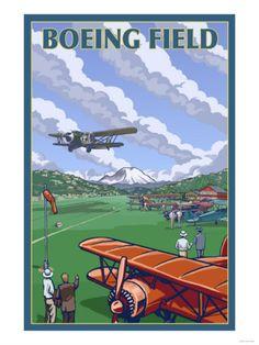 vintage boeing poster