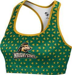 ProSphere Womens Wright State University Geometric Sports Bra *** Details can be found by clicking on the affiliate link Amazon.com.
