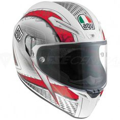 AGV GT Veloce Cyborg White / Black / Red