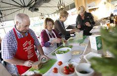 Learning to make smørrebrød in Solvang, CA from Ole Troelsø, restaurant reviewer for Børsen, the financial newspaper of Denmark and  cookbook author
