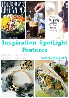Linkup Party | Inspiration Spotlight Linkup Party 248 Bloggers sharing their favorite blog posts; blogging tips, crafts, DIY, home decor ideas, recipes, fashion, beauty and more! Come see all the features and shared ideas.