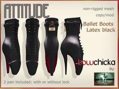 BowChicka - Attitude - Ballet Boots - Latex Black Kopie   Flickr - Photo Sharing!