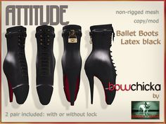 BowChicka - Attitude - Ballet Boots - Latex Black Kopie | Flickr - Photo Sharing!