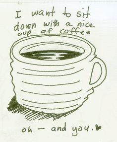 ....una linda taza de cafe y tu (en ese orden por supuesto xD)
