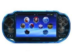Acessórios PS Vita Cosmos Light Blue Crystal Protection Hard Case Cover #Games #PSVita
