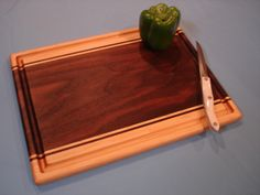 Our Expression Series Cutting Boards showcase distinctive character that only nature can provide. This example is made from what many refer to as one of the most beautiful woods, Black Walnut with Map
