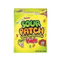 Sour Patch Soft And Chewy Kids Candy, 30.4 oz Walmart.com ($4.48) ❤ liked on Polyvore featuring food