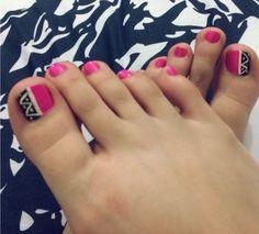 Diseño de uñas #nailart #pies