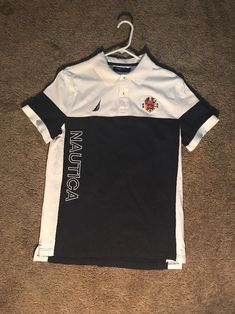 76c7114215d Nautica Spell-Out Polo Shirt Size Large