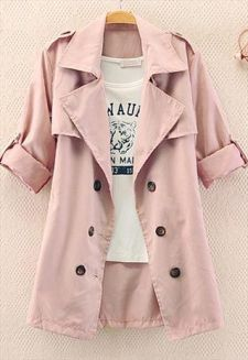 cute little short sleeved trench