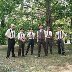 Or Groom wears a vest and groomsmen where a tie?