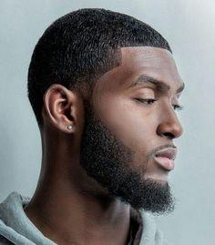 Black Men Haircuts, Black Men Hairstyles, Cool Hairstyles, Hairstyle Ideas, Natural Shaving Cream, Beautiful Men Faces, Beautiful People, Beard Head, Skin Head