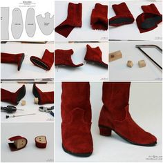 How to make Doll Boot step by step DIY tutorial instructions, How to, how to do, diy instructions, crafts, do it yourself, diy website, art project ideas