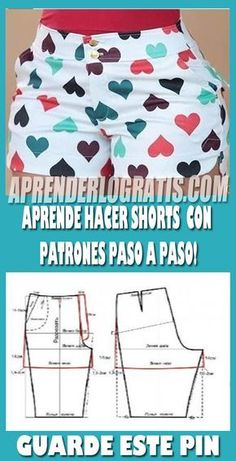Aprende hacer pantalones shorts con patrones paso a paso. - Best Sewing Tips Sewing Shorts, Sewing Clothes, Diy Clothes, Sewing Patterns For Kids, Dress Sewing Patterns, Make Your Own Clothes, Sewing Stitches, Pattern Drafting, Pants Pattern