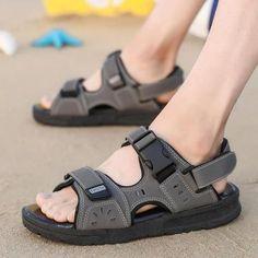 18df4f2f6ee64 Comfortable Seaside Sandal-Sandal-Minika-178 Black-6.5-TouchyStyle  #SandalsHeels