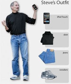 Why are Steve Jobs's presentations so effective? You may be wondering why Steve Jobs wore the blue jeans and black turtleneck. Steve Jobs's black turtlenecks helped make him the world's most recognizable CEO and why not the most recognized presenter, too. Steve Jobs Apple, New Balance 992, Steve Jobs Biography, Black Turtleneck, Jeans And Sneakers, Job S, Jean Shirts, Mom Jeans, Normcore