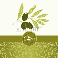 Vector decorative olive branch Pattern olive branch  Stock Vector