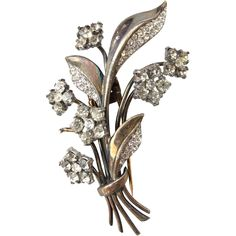 Trifari Sterling Flower Dress / Fur Clip offered by 2Hearts Jewelry & Accessories