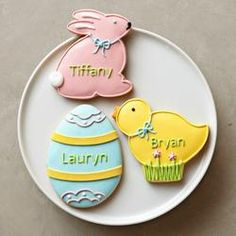 Personalized Giant Easter Cookies. #Easter