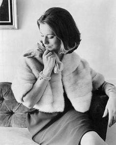 Tourmaline mink coat, 1963.