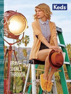 The Taylor Swift Keds Campaign is Colorful and Youthful #taylorswift trendhunter.com