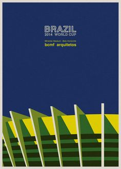 Brazil World Cup stadiums illustrated by André Chiote