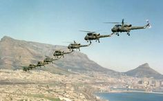 WASP helicopter formation over Cape town SAAF