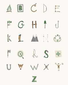 ABC with camping theme by Danielle Kroll