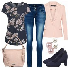 de Business Outfits: Vivian at FrauenOutfits.de The post Business Outfits: Vivian at FrauenOutfits.de appeared first on Leanna Toothaker. Mode Outfits, Outfits For Teens, Fall Outfits, Casual Outfits, Fashion Outfits, Hijab Outfit, Rosa Blazer, White Converse Outfits, Look Rose