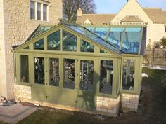The finalising of a timber orangery for one of our clients