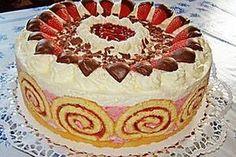 Strawberry sour cream cake - #Cake #Cream #Sour #Strawberry