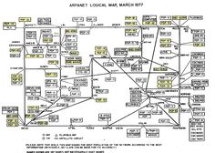 PDP-10 systems on the ARPANET highlighted in yellow