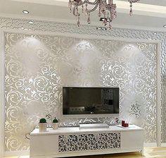Papel De Parede 3d 10m Quarto Parede Moderna Vida Casa De Fundo Listra Mural Rolo