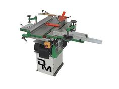 Woodworking Combination Machine easy to use and ideal for a DIY Lover. It has cast iron tables, a 210 mm width thicknesser/surface planer, circular saw with 250 mm blade diameter, spindle moulder, morticer. The motor is a single phase with 2 hp of power. Mortising Machine, Milling Machine, Machine Tools, Sierra Circular, Circular Saw, Combination Woodworking Machine, Sliding Table Saw, Cast Iron, It Cast