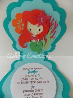 Little Mermaid invitation Ashbro Creations