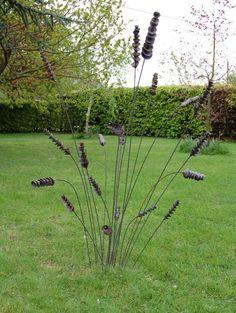 Image detail for -Garden Art - metal stakes. Suzie GutteridgeGarden Design Blog