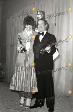 Diane Keaton and Richard Dreyfuss win best actress and actor (Annie Hall and The Goodbye Girl respectively) at the 50th Academy Awards held at the  Dorothy Chandler Pavilion in Los Angeles, California on April 3, 1978. Diane was maligned in the press for her once again 'out the the box' attire.