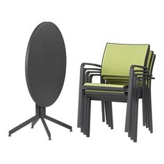Surf Charcoal Flip-Top Table in Outdoor Tables | Crate and Barrel