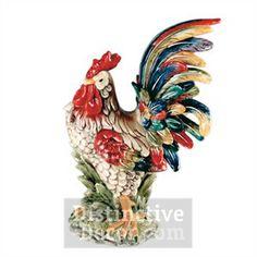 "J. Willfred Ceramics 15"" Rooster Figurine"