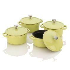 Michelle Bernstein Mini Dutch Ovens, Lemon Lime