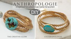 FREE DIY Anthropologie Inspired Macrame Beaded Bracelet Tutorial by The Creative Glow