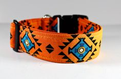 Colorful Native Motifs dog collar Desert Songs in by FunkyMutt, $17.00