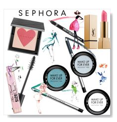 """Sephora Makeup Fun"" by freshstart60 ❤ liked on Polyvore featuring beauty, Marc Jacobs, Too Faced Cosmetics, Burberry, MAKE UP FOR EVER, GE and highlighter"