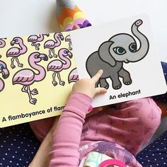 """""""Bart's parents gave Ella this book (CALLING ALL ANIMALS) for her first birthday and it's been a favorite with all three girls.  And I find it delightful that a group of flamingos is called a flamboyance. Why is there no flamingo emoji?  #janssenspicturebooks  @liketoknow.it www.liketk.it/2kGrJ #liketkit"""""""