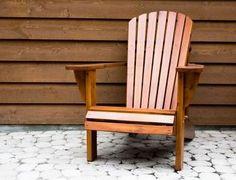 Homemade Redwood Adirondack Chairs thumbnail