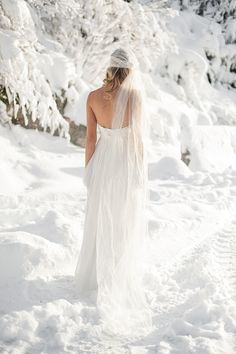 Winter Wedding Inspiration: Claire La Faye gowns on Magnolia Rouge