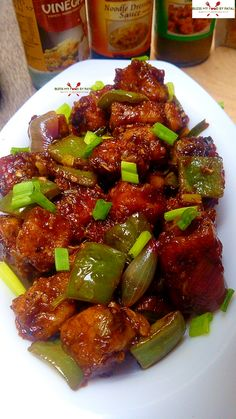 chilli paneer is a delicious mouthwatering dish that is inspired with the asian sauces using indian ingredients. It is easy and quick recipe that people can make at home within minutes Chilli Recipes, Indian Food Recipes, Asian Recipes, Chilli Chicken Recipe, Chicken Recipes, Indian Snacks, Vegetarian Chinese Recipes, Vegetarian Platter, Vegetarian Entrees