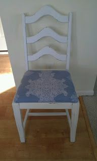 Thrifty Treasures: Fixing up a broken chair. I love, love,love this!