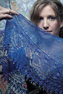 Mermaid's Song shawl from the Unofficial Harry Potter Knits, would be beautiful in Mountain Colors Winter Lace